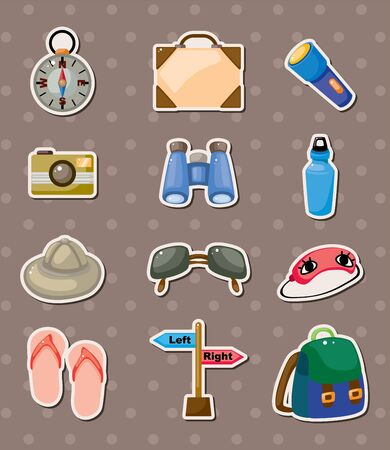 travel element stickers Vector