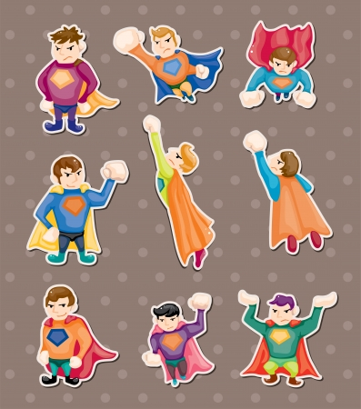 muscly: superman stickers Illustration