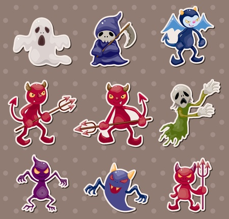ghost and devil stickers Vector