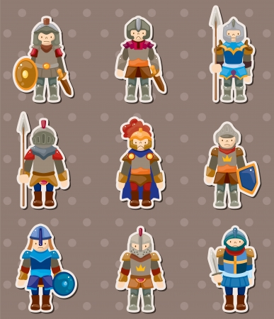 armor: knight stickers Illustration