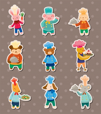 carrot cakes: animal chef stickers