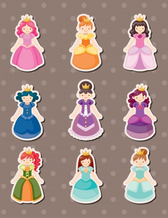 princess stickers Vector
