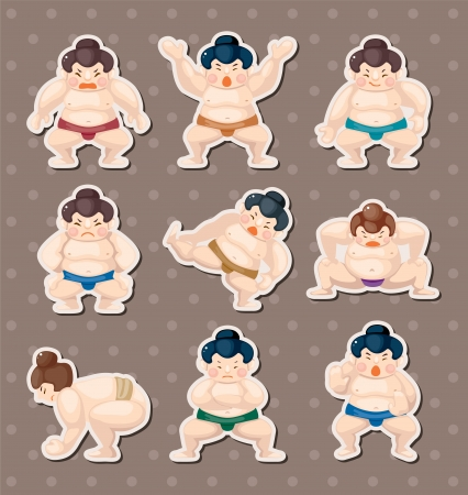wrestler: sumo player stickers