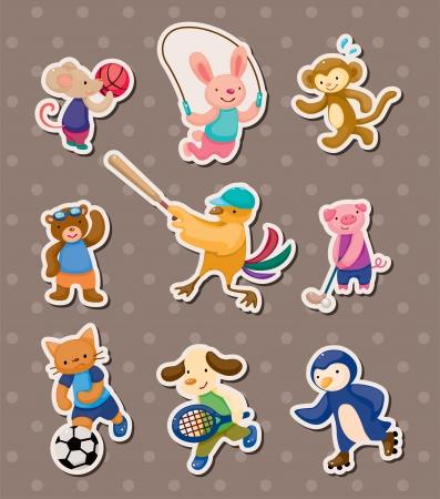 animal sport stickers Illustration