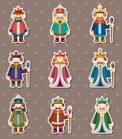 human age: king stickers Illustration
