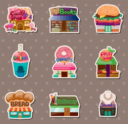 store stickers Vector
