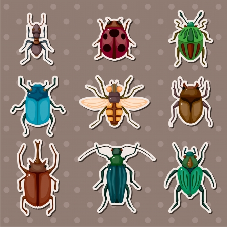 insect stickers Vector