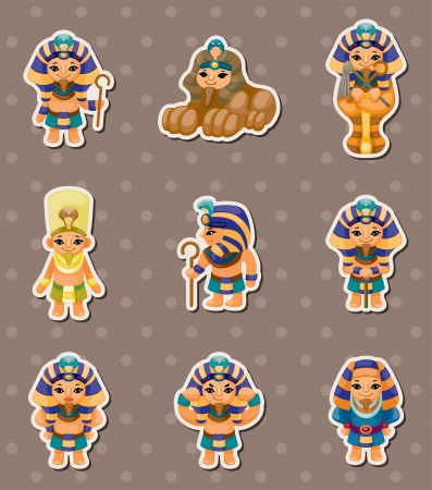 stickers: cartoon pharaoh stickers Illustration