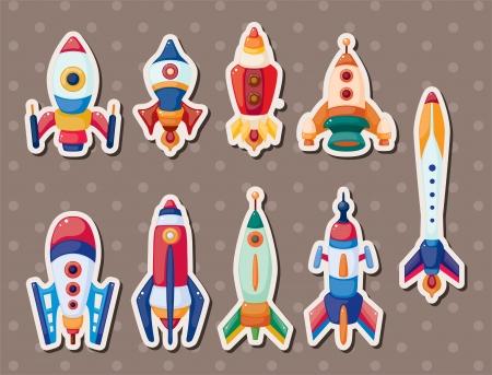 cosmonaut: rocket stickers