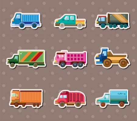 truck stickers Stock Vector - 14091765