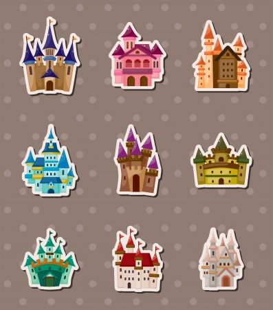 castle stickers Stock Vector - 14091775
