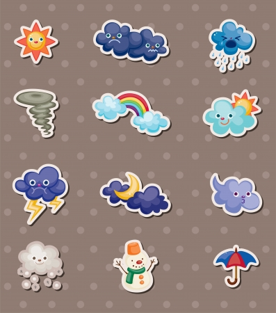 weather cartoon: weather stickers