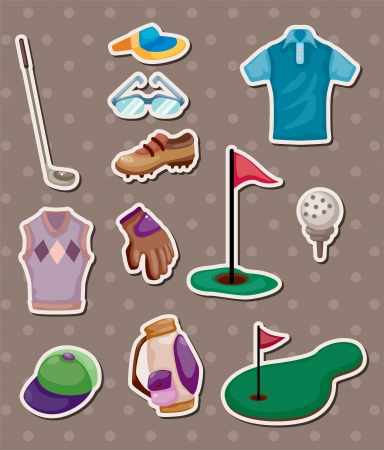 golf stickers Stock Vector - 14231554