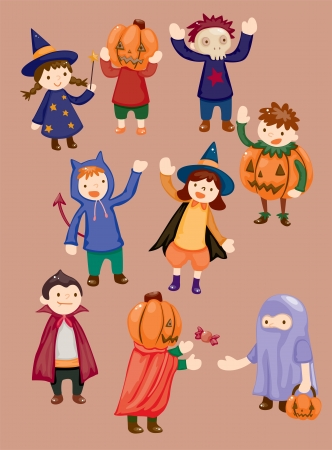 Halloween party child icon Vector