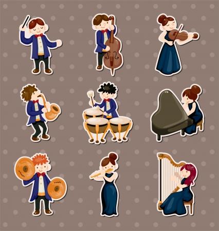 harfe: Orchester Musik-Player Aufkleber