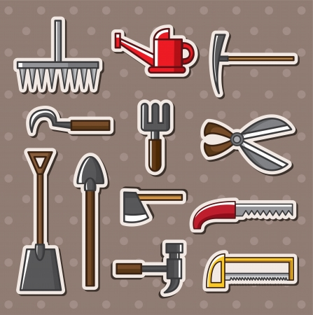 claw hammer: tools stickers Illustration