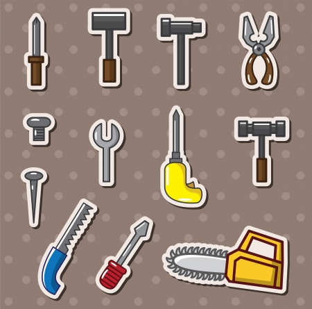 clip art draw: tools stickers Illustration
