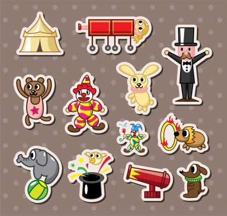 tabernacle: circus stickers Illustration