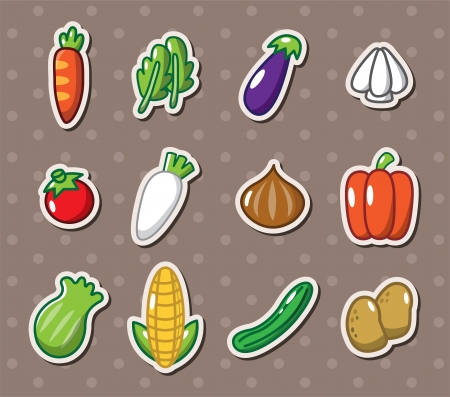 vegetable stickers Stock Vector - 14320341