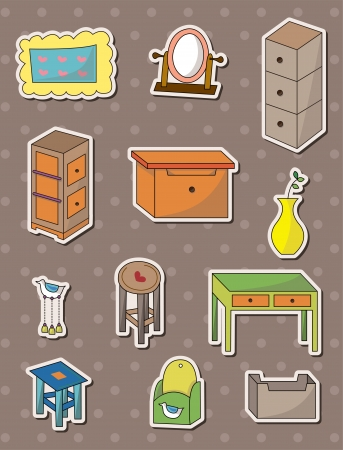 furniture stickers Stock Vector - 14366174