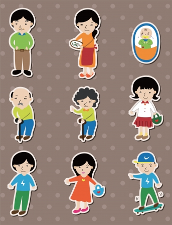 family stickers Vector