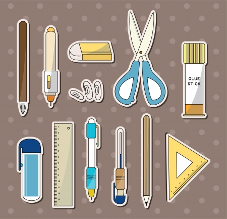 stationery stickers Stock Vector - 14366162