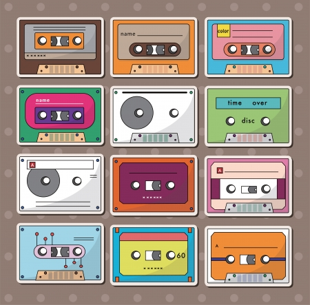 cassette tape: tape stickers