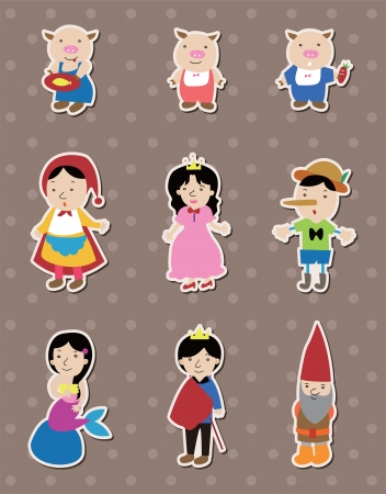 story people stickers Stock Vector - 14366224