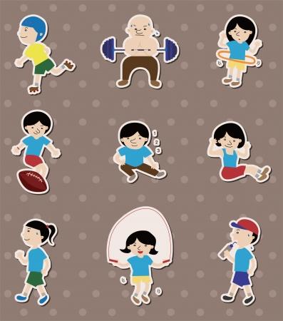 hula: sport stickers