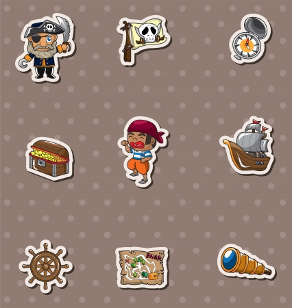 pirate stickers Vector
