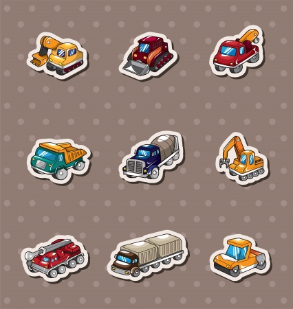 truck stickers Stock Vector - 14366230