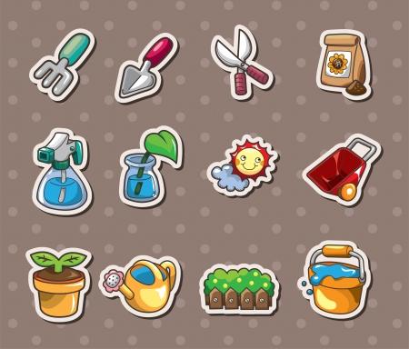 Gardening stickers Stock Vector - 14415667