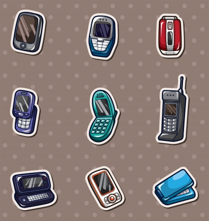 mobile phone stickers Vector