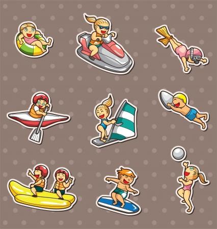 Pegatinas para deportes acuáticos Foto de archivo - 14492625