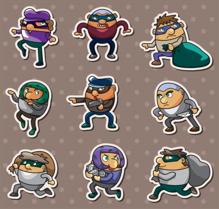 mobster: thief stickers