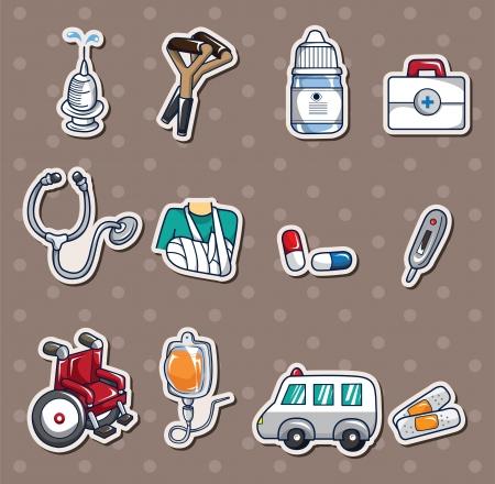hospital dibujo animado: Pegatinas del Hospital