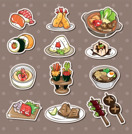 cartoon food:  Japanese food stickers