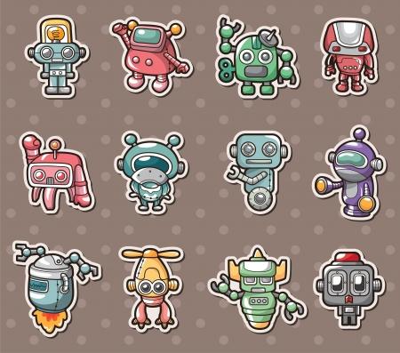 robot stickers Vector
