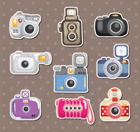 camera stickers Vector