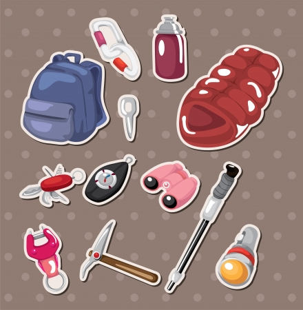 climbing tool stickers Vector