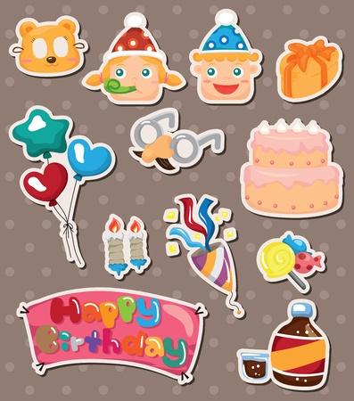 birthday stickers Stock Vector - 14596406
