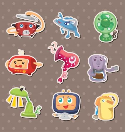 cartoon Home Appliances stickers Vector