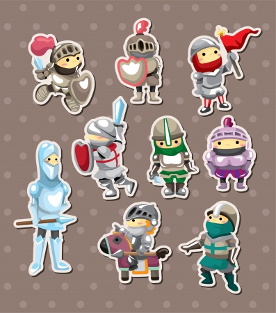 knight stickers Illustration
