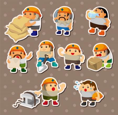 ingenieurs: cartoon werknemer stickers