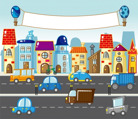street life: city street Illustration