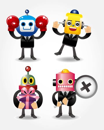 robot businessman icons Vector