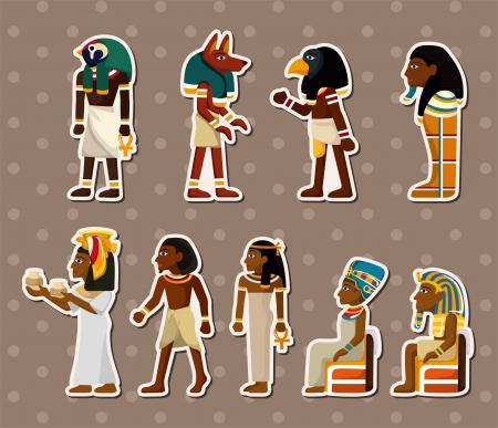 hieroglieven: cartoon farao stickers