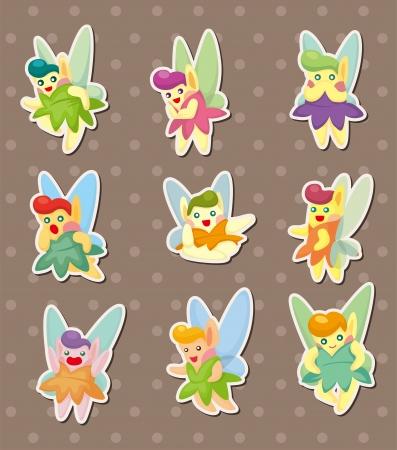 elf queen: cartoon little baby fairy stickers Illustration