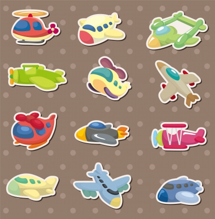 airplane stickers Stock Vector - 14731136