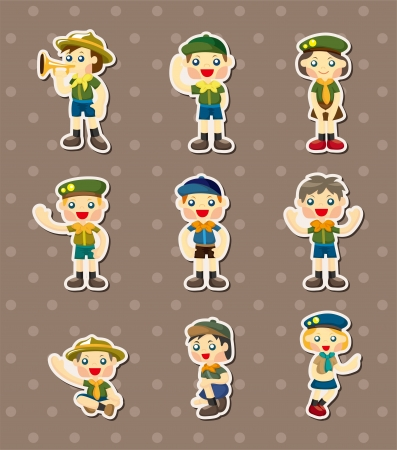 boygirl scout  stickers Vector